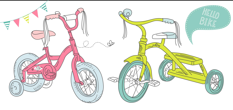 Тема катания на велосипеде, самокате на английском