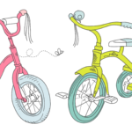 Детские песенки на английском языке про велосипеды, самокаты