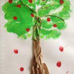 Apple Tree Craft — Поделка Яблоня на английском