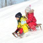 Зимнее катание с  горки на английском — Winter sledding