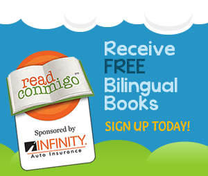 Read Conmigo. Receive Free Bilingual Books. Sign Up Today!